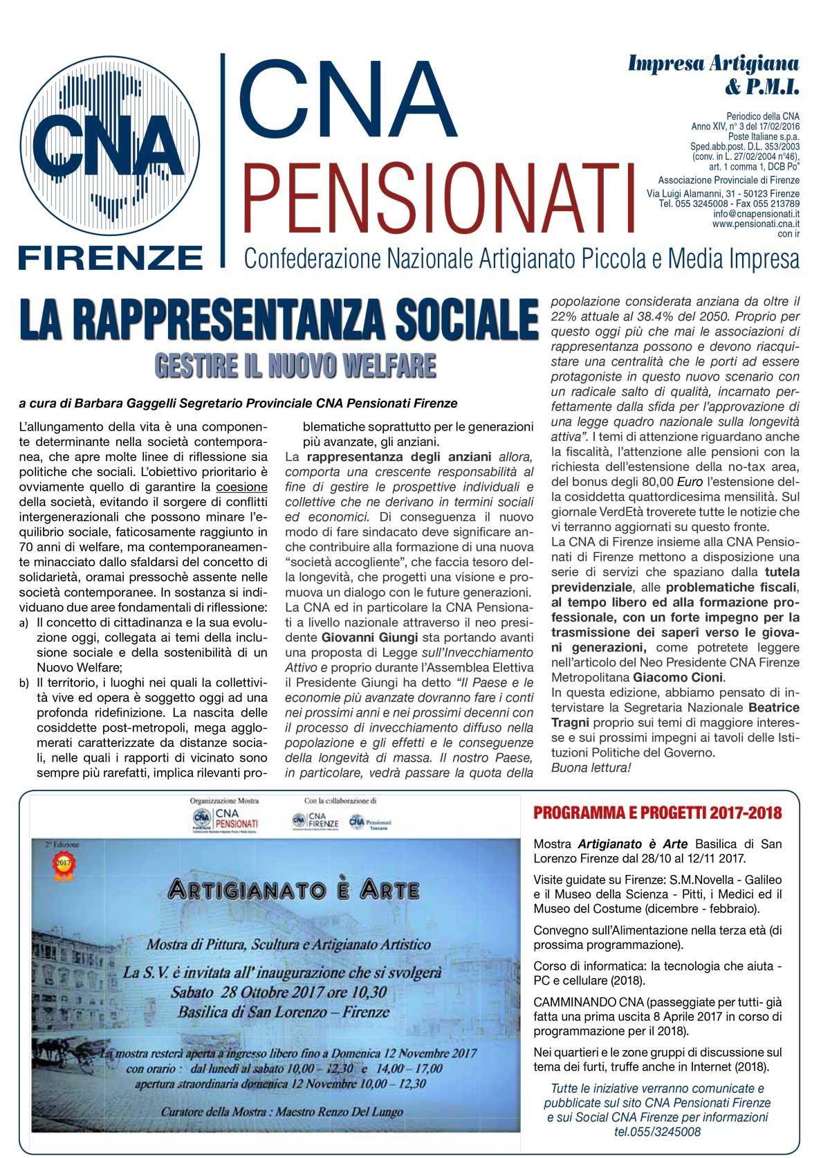 Archivio stampa 2017 CNA Pensionati